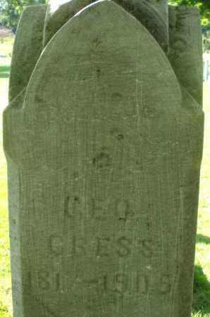 GRESS, GEORGE - Montgomery County, Ohio | GEORGE GRESS - Ohio Gravestone Photos