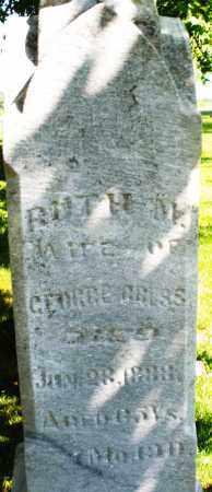 GRESS, RUTH - Montgomery County, Ohio   RUTH GRESS - Ohio Gravestone Photos