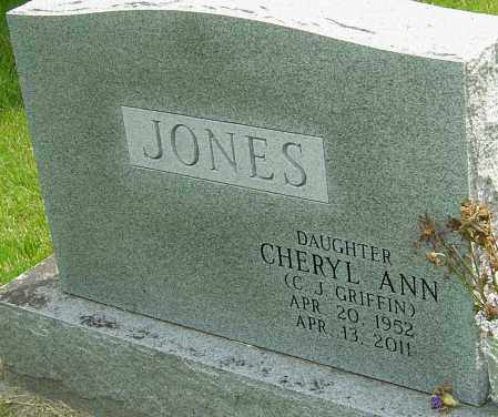 "JONES GRIFFIN, CHERYL ANN ""C J"" - Montgomery County, Ohio | CHERYL ANN ""C J"" JONES GRIFFIN - Ohio Gravestone Photos"