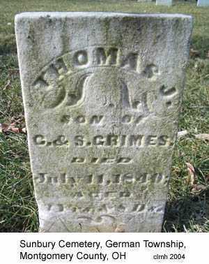 GRIMES, THOMAS J - Montgomery County, Ohio   THOMAS J GRIMES - Ohio Gravestone Photos