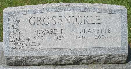 GROSSNICKLE, S. JEANETTE - Montgomery County, Ohio | S. JEANETTE GROSSNICKLE - Ohio Gravestone Photos