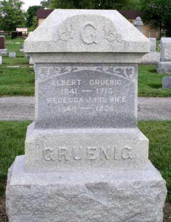 GRUENIG, REBECCA - Montgomery County, Ohio | REBECCA GRUENIG - Ohio Gravestone Photos