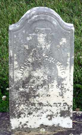 GRUENIG, JOHN A - Montgomery County, Ohio   JOHN A GRUENIG - Ohio Gravestone Photos