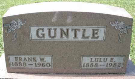 GUNTLE, FRANK W. - Montgomery County, Ohio | FRANK W. GUNTLE - Ohio Gravestone Photos
