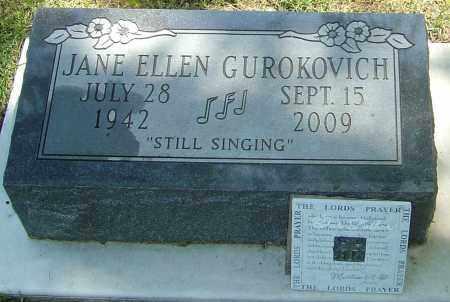 GUROKOVICH, JANE ELLEN - Montgomery County, Ohio   JANE ELLEN GUROKOVICH - Ohio Gravestone Photos