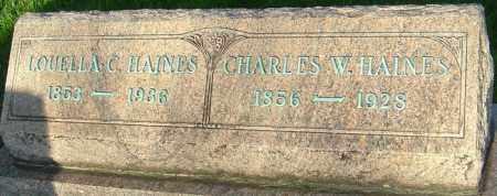 HAINES HAINES, LOUELLA - Montgomery County, Ohio   LOUELLA HAINES HAINES - Ohio Gravestone Photos