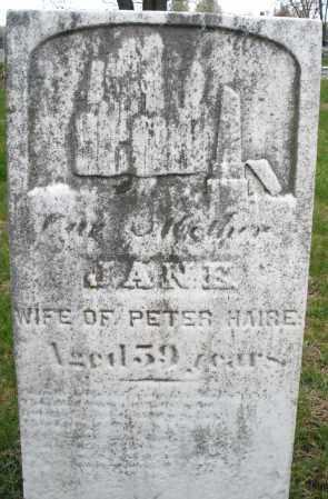 HAIRE, JANE - Montgomery County, Ohio | JANE HAIRE - Ohio Gravestone Photos