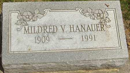 HANAUER, MILDRED V - Montgomery County, Ohio   MILDRED V HANAUER - Ohio Gravestone Photos