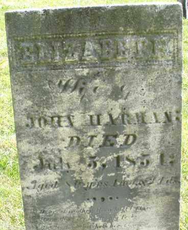 HARMAN, ELIZABETH - Montgomery County, Ohio | ELIZABETH HARMAN - Ohio Gravestone Photos
