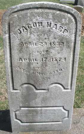 HARP, JACOB - Montgomery County, Ohio | JACOB HARP - Ohio Gravestone Photos