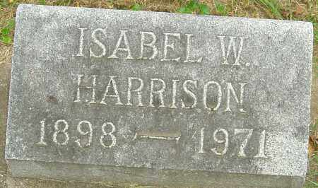 HARRISON, ISABEL W - Montgomery County, Ohio | ISABEL W HARRISON - Ohio Gravestone Photos
