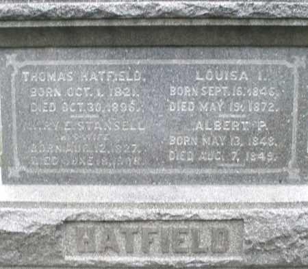 STANSELL HATFIELD, MARY E. - Montgomery County, Ohio | MARY E. STANSELL HATFIELD - Ohio Gravestone Photos