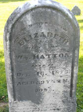 HATTON, ELIZABETH - Montgomery County, Ohio | ELIZABETH HATTON - Ohio Gravestone Photos