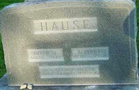HAUSE, ALBERT E - Montgomery County, Ohio | ALBERT E HAUSE - Ohio Gravestone Photos