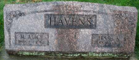 HAVENS, M. ALICE - Montgomery County, Ohio   M. ALICE HAVENS - Ohio Gravestone Photos