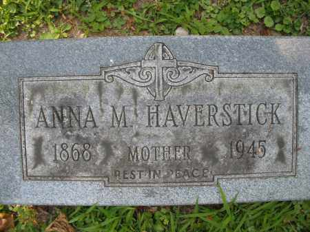 HAVERSTICK, ANNA M. - Montgomery County, Ohio | ANNA M. HAVERSTICK - Ohio Gravestone Photos