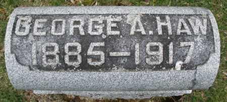 HAW, GEORGE A. - Montgomery County, Ohio   GEORGE A. HAW - Ohio Gravestone Photos