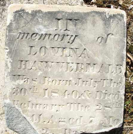HAWVERMALE, LOVINA - Montgomery County, Ohio   LOVINA HAWVERMALE - Ohio Gravestone Photos