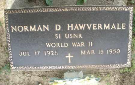 HAWVERMALE, NORMAN D. - Montgomery County, Ohio | NORMAN D. HAWVERMALE - Ohio Gravestone Photos