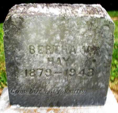 HAY, BERTHA - Montgomery County, Ohio   BERTHA HAY - Ohio Gravestone Photos