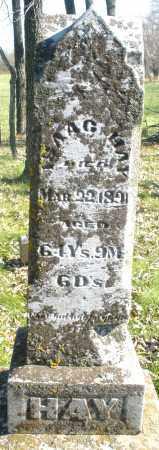 HAY, ISAAC - Montgomery County, Ohio   ISAAC HAY - Ohio Gravestone Photos