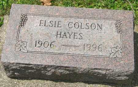 COLSON HAYES, ELSIE - Montgomery County, Ohio | ELSIE COLSON HAYES - Ohio Gravestone Photos