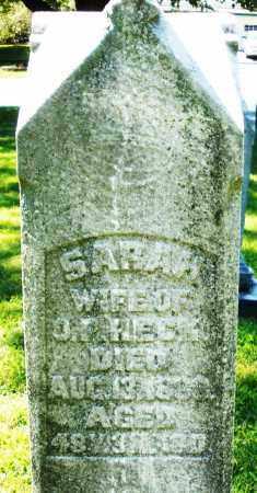HECK, SARAH - Montgomery County, Ohio | SARAH HECK - Ohio Gravestone Photos