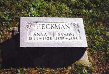 MINNICH HECKMAN, ANNA - Montgomery County, Ohio | ANNA MINNICH HECKMAN - Ohio Gravestone Photos