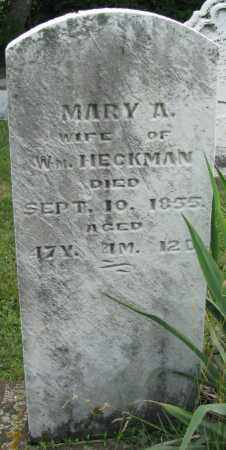 BRANDENBURG HECKMAN, MARY ANN - Montgomery County, Ohio | MARY ANN BRANDENBURG HECKMAN - Ohio Gravestone Photos