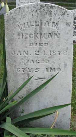 HECKMAN, WILLIAM H. - Montgomery County, Ohio | WILLIAM H. HECKMAN - Ohio Gravestone Photos