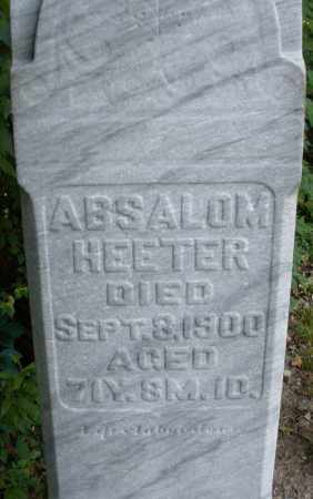 HEETER, ABSALOM - Montgomery County, Ohio | ABSALOM HEETER - Ohio Gravestone Photos