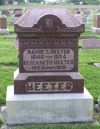 HEETER, DAVID T. - Montgomery County, Ohio | DAVID T. HEETER - Ohio Gravestone Photos