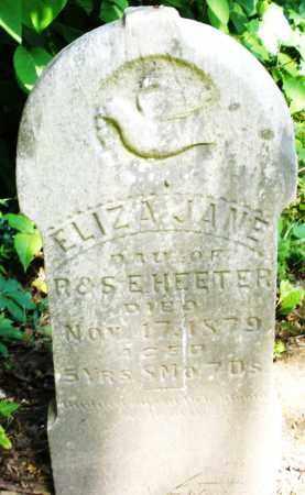 HEETER, ELIZA JANE - Montgomery County, Ohio | ELIZA JANE HEETER - Ohio Gravestone Photos