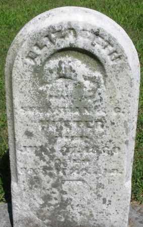 HEETER, ELIZABETH - Montgomery County, Ohio   ELIZABETH HEETER - Ohio Gravestone Photos