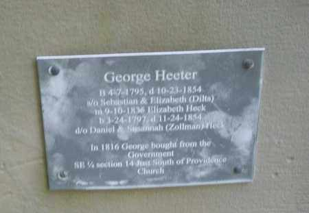 HEETER, GEORGE - Montgomery County, Ohio | GEORGE HEETER - Ohio Gravestone Photos