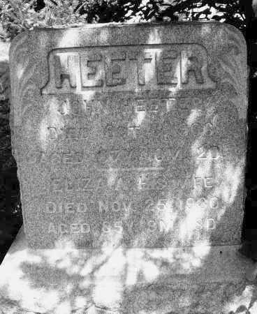HEETER, JOHN - Montgomery County, Ohio | JOHN HEETER - Ohio Gravestone Photos