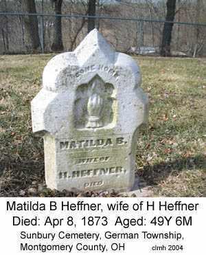 HEFFNER, MATILDA B - Montgomery County, Ohio   MATILDA B HEFFNER - Ohio Gravestone Photos