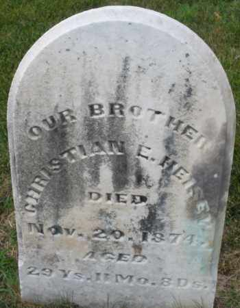 HEISEY, CHRISTIAN E. - Montgomery County, Ohio | CHRISTIAN E. HEISEY - Ohio Gravestone Photos