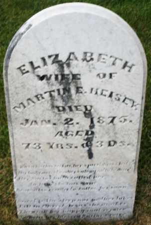 HEISEY, ELIZABETH - Montgomery County, Ohio   ELIZABETH HEISEY - Ohio Gravestone Photos
