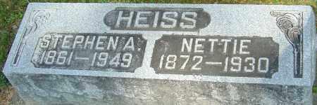 FOX HEISS, NETTIE - Montgomery County, Ohio | NETTIE FOX HEISS - Ohio Gravestone Photos