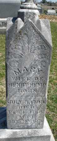 HEMP, MARY - Montgomery County, Ohio | MARY HEMP - Ohio Gravestone Photos
