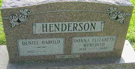 MEREDITH HENDERSON, DONNA ELIZABETH - Montgomery County, Ohio   DONNA ELIZABETH MEREDITH HENDERSON - Ohio Gravestone Photos