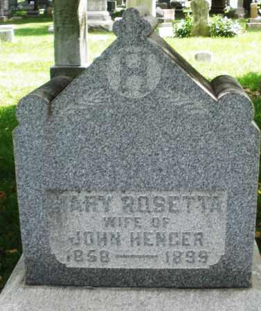 HENGER, MARY ROSETTA - Montgomery County, Ohio | MARY ROSETTA HENGER - Ohio Gravestone Photos