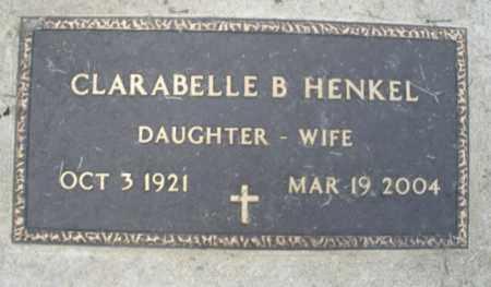 HENKEL, CLARABELLE B. - Montgomery County, Ohio | CLARABELLE B. HENKEL - Ohio Gravestone Photos