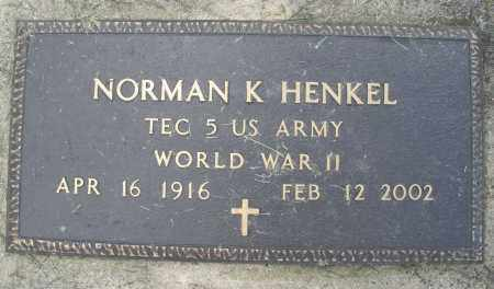 HENKEL, NORMAN K. - Montgomery County, Ohio | NORMAN K. HENKEL - Ohio Gravestone Photos