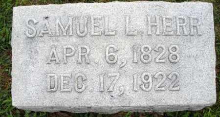 HERR, SAMUEL L. - Montgomery County, Ohio   SAMUEL L. HERR - Ohio Gravestone Photos