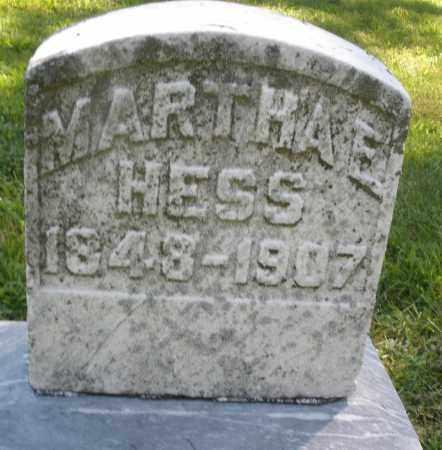 HESS, MARTHA E. - Montgomery County, Ohio | MARTHA E. HESS - Ohio Gravestone Photos