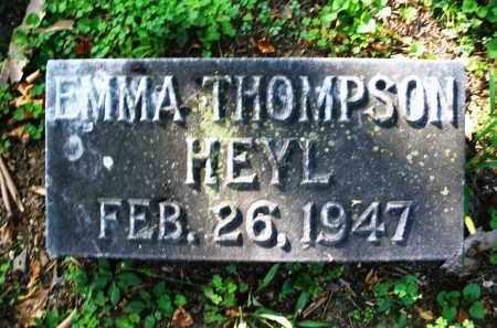 THOMPSON HEYL, EMMA - Montgomery County, Ohio | EMMA THOMPSON HEYL - Ohio Gravestone Photos