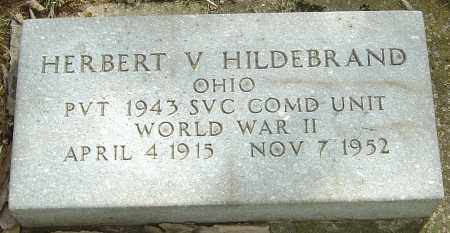 HILDEBRAND, HERBERT V - Montgomery County, Ohio   HERBERT V HILDEBRAND - Ohio Gravestone Photos
