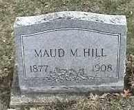 HILL, MAUD M. - Montgomery County, Ohio | MAUD M. HILL - Ohio Gravestone Photos